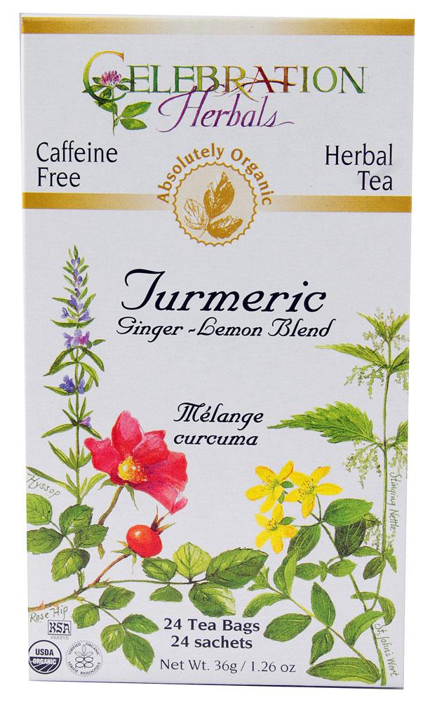 ... / Celebration Herbals Organic Turmeric Tea Ginger Lemon 24 Tea Bags
