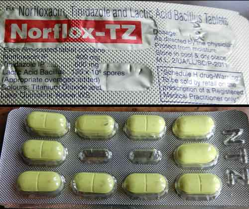 Norflox Tz 10 Tablets in Strip | Online Medical Store