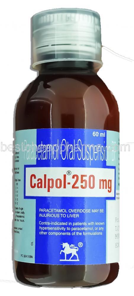 Calpol 250 Mg 60 ml in Bottle – Online Medical Store Delhi