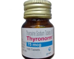 Thyronorm 75 Mcg 100 Tablets in Pack
