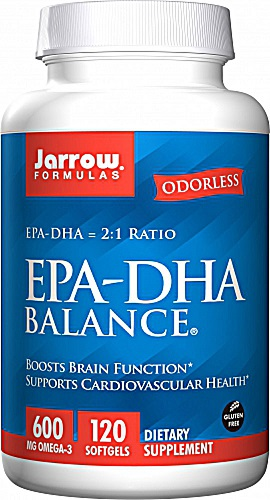 Jarrow Formulas EPA DHA Balance® 600 mg 120 Softgels