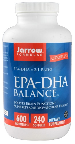 Jarrow Formulas EPA DHA Balance® 600 mg 240 Softgels