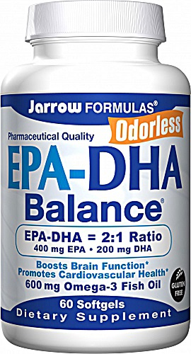 Jarrow Formulas EPA DHA Balance® 600 mg 60 Softgels