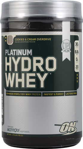 Optimum Nutrition Platinum Hydrowhey® Cookies and Cream Overdrive 1.75 lbs