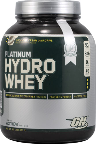 Optimum Nutrition Platinum Hydrowhey® Cookies and Cream Overdrive 3.5 lbs