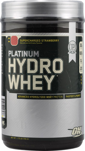 Optimum Nutrition Platinum Hydrowhey® Supercharged Strawberry 1.75 lbs