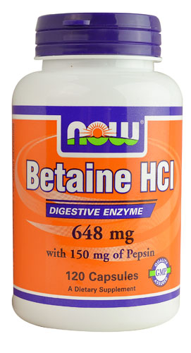 NOW Foods Betaine HCl