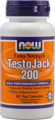 NOW Foods TestoJack 200 Extra Strength 60 Vegetarian Capsules
