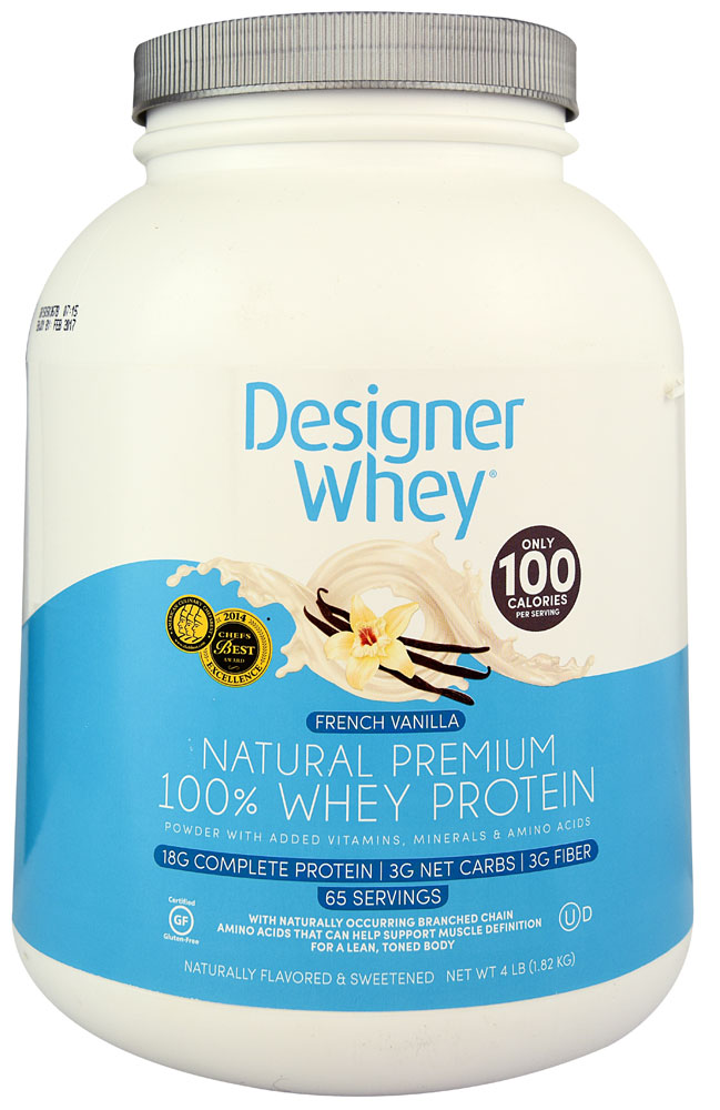 Designer whey french vanilla protein powder