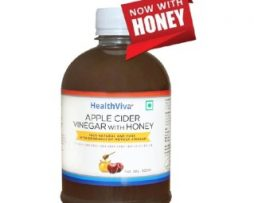 HealthViva Apple Cider Vinegar + Honey, 0.5 L Unflavoured